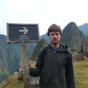 Neil en Machu Picchu